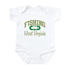 FISHING WEST VIRGINIA Infant Bodysuit