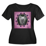 New Chinese Crested Design Women's Plus Size Scoop