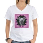 New Chinese Crested Design Women's V-Neck T-Shirt