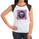 New Chinese Crested Design Women's Cap Sleeve T-Sh