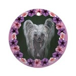 New Chinese Crested Design Ornament (Round)