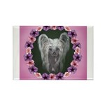 New Chinese Crested Design Rectangle Magnet (100 p