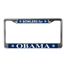BOWLERS FOR OBAMA License Plate Frame