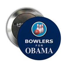 """BOWLERS FOR OBAMA 2.25"""" Button (10 pack)"""
