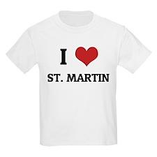 I Love St. Martin Kids T-Shirt