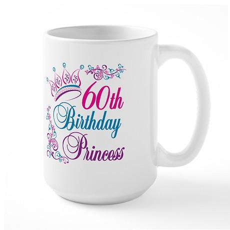 60th Birthday Princess Large Mug