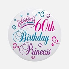 60th Birthday Princess Ornament (Round)
