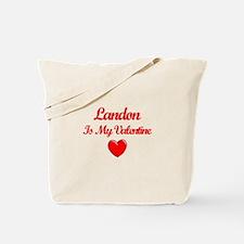 Landon Is My Valentine Tote Bag