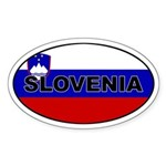 Slovenia Flag Oval Sticker