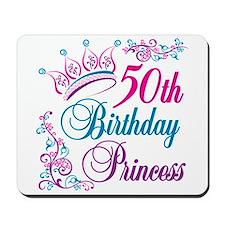 50th Birthday Princess Mousepad