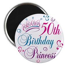 "50th Birthday Princess 2.25"" Magnet (10 pack)"