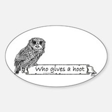Hoot Owl Sticker (Oval)