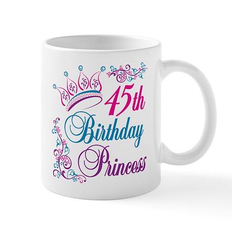 45th Birthday Princess Mug