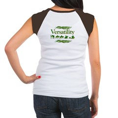 Versatility in green Women's Cap Sleeve T-Shirt