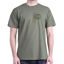 Versatility in green T-Shirt
