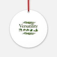 Versatility in green Ornament (Round)