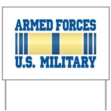 Armed Forces Service Ribbon Yard Sign