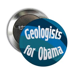 Geologists for Obama campaign button