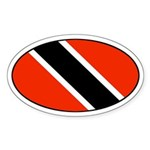 Trinidad and Tobago Flag Oval Sticker