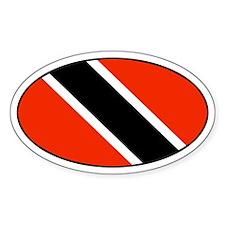 Trinidad and Tobago Flag Oval Decal