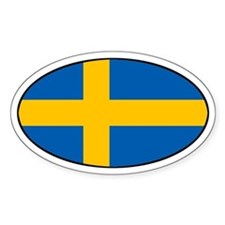 Sweden (SWE) Flag Oval Decal