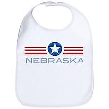 Star Stripes Nebraska Bib