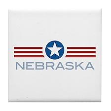 Star Stripes Nebraska Tile Coaster