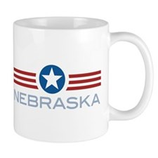 Star Stripes Nebraska Mug