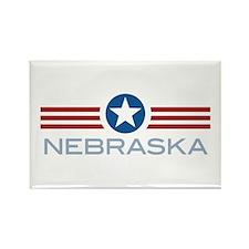 Star Stripes Nebraska Rectangle Magnet