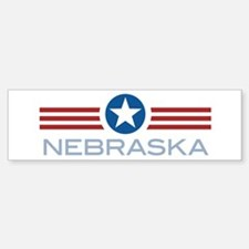 Star Stripes Nebraska Bumper Bumper Bumper Sticker