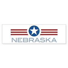 Star Stripes Nebraska Bumper Bumper Sticker
