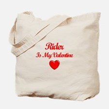 Rider Is My Valentine Tote Bag