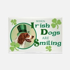 St. Patrick Irish Red and White Rectangle Magnet (