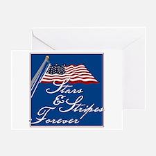 Stars & Stripes Forever - Greeting Card