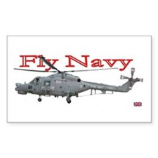 Lynx Royal Navy Helicopter Rectangle Decal