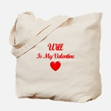 Will Is My Valentine Tote Bag