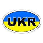 Ukraine (UKR) Flag Oval Sticker