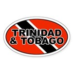 Trinidad and Tobago (TTO) Flag Oval Sticker