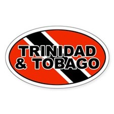 Trinidad and Tobago (TTO) Flag Oval Decal
