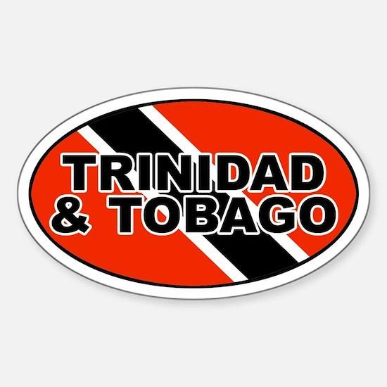 Trinidad and Tobago (TTO) Flag Oval Decal