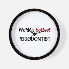 World's Hottest Periodontist Wall Clock