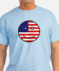 American Smiley Face T-Shirt