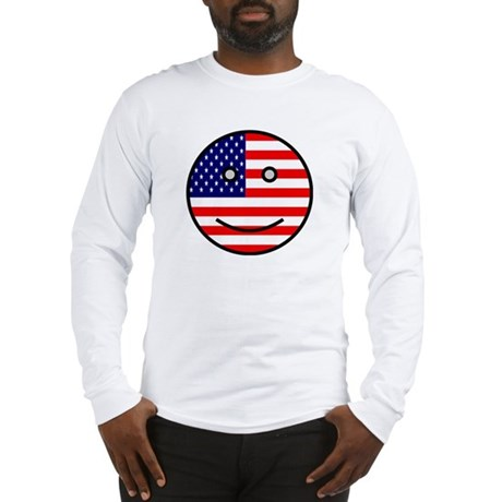 American Smiley Face Long Sleeve T-Shirt