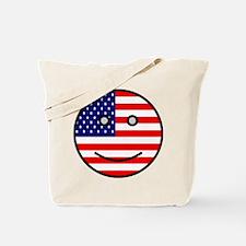 American Smiley Face Tote Bag