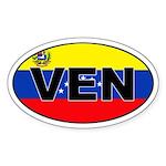Venezuela (VEN) Flag Oval Sticker