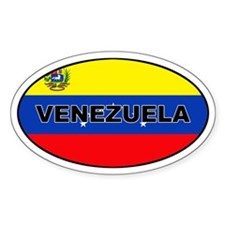 Venezuela Flag Oval Decal
