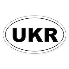 Ukraine (UKR) Flag Oval Decal