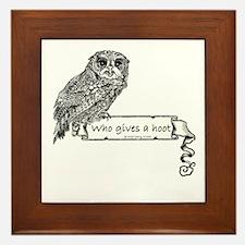 Hoot Owl Framed Tile