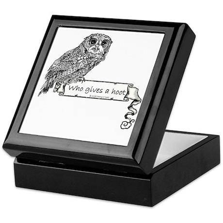 Hoot Owl Keepsake Box