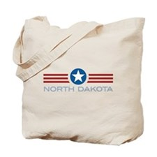 Star Stripes North Dakota Tote Bag